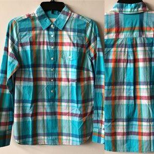 J. Crew Blue Plaid Button-Down Shirt